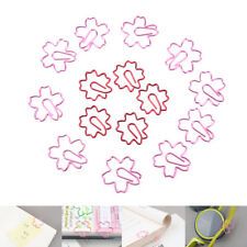 2Pcs Rosa rot Sakura Kirschblüten Blumen Büroklammern Planer Büroklammern ^