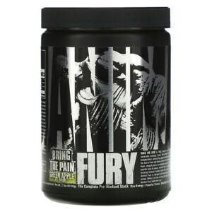 Universal Nutrition Animal Fury Trial, Green Apple, 82.65 Gram/ Pre Workout