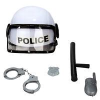 Kids Pretend Combat Police SWAT Helmet & Accessories Play Set Xmas Child Gift
