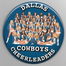 """HUGE 6"""" Dallas Cowboys Cheerleaders pinback button pin"""