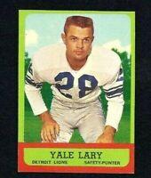 NMT 1963 Topps Football #33 Yale Lary HOF.