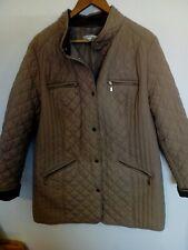 Ladies M&S Classic Beige Quilted Coat Plus Size UK 20