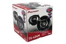"New Pioneer TS-434M 150 Watts 4"" 2-Way Coaxial Car Audio Speakers With Grilles"