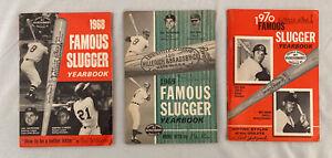 1968 1969 1970 Famous Slugger Yearbook LOT Hank Aaron Pete Rose Carl Yastrzemski