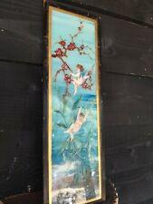 A Victorian Reverse Painted Glass Picture Fairies Cherubs Putti English