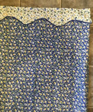 Laura Ashley Polyanthus Shower Curtain Valance Fabric Floral Blue Yellow