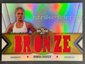 2013 TOPPS TRIPLE THREADS RONDA ROUSEY TRIPLE JERSEY BRONZE STRIKEFORCE 6/9