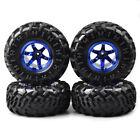 4pcs 125mm Tires Tyres Plastic Wheel Rim Hubs for HSP HPI 1:10 RC Truck
