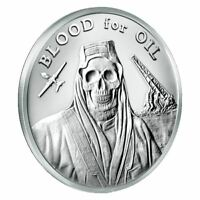 2017 Silver Shield Blood for Oil 1 oz Mini-Mintage Round | Numbered COA