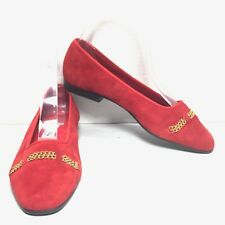 Women's Unisa Red Chain-Link Toe Ballerina Ballet Flats Size 5.5 M