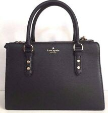 New Kate Spade Lise Mulberry street Leather Satchel handbag Black