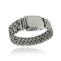 Men's Heavyweight Double Byzantine Bracelet - 925 Sterling Silver - Handmade NEW