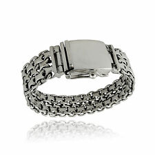 Men's Heavyweight Double Byzantine Bracelet - 925 Sterling Silver - Handmade NEW