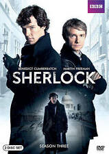 SHERLOCK HOLMES 2 DVD SET SEASON THREE BENEDICT CUMBERBATCH MARTIN FREEMAN