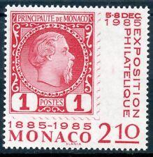 TIMBRE DE MONACO N° 1457 ** CENTENAIRE DU 1° TIMBRE N°1 DE 1885 / EXPOSITION