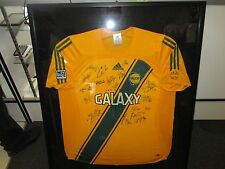L.A. GALAXY SIGNED 2006 ADIDAS MLS AWAY JERSEY Autographed AUTHENTIC FRAMED