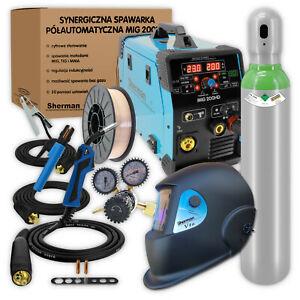 Sherman® MIG 200HD MMA Poste à souder Machine de soudage Synergie 200A ENSEMBLE