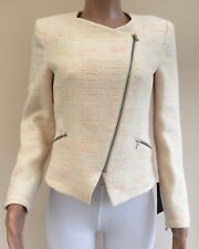 NEW RRP £69.99 Zara Cream Textured Jacket Size M 10