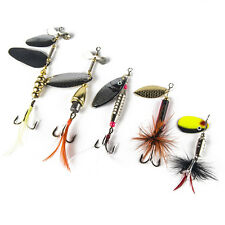 5pcs Metal Mixed Spinners Fishing Lure Pike Salmon Baits Trout Bass Fish Hooks#
