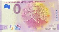 BILLET 0 EURO JULES  VERNE ANNIVERSARY FRANCE  2021 NUMERO  RADAR 2002