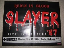 Poster Slayer Tour Reign in blood 1987 / Malcolm Young ACDC
