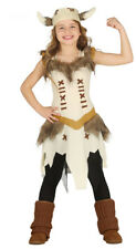 Italian Made Girls Deluxe Viking Halloween Fancy Dress Costume Outfit 3-10 years