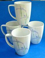 Corelle Coordinates Shadow Iris Tall Cups  Mugs Set of 4 Purple flowers