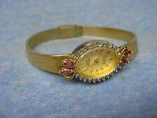 "Women's Petite ARMITRON ""Deauville Diamond"" Gold Watch w/ New Battery"