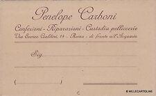 # ROMA: testatina- PENELOPE CARBONI - confezioni - custodia pelliccerie