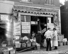Boston Fruit Company Store, Norwich, Connecticut - 1940 - Vintage Photo Print