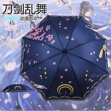 Anime Japan Touken Ranbu Online Folding Automatic Sun Rain Waterproof Umbrellas