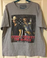 Vintage Brothers Of The Sun Tour Shirt Men's Xl Tim McGraw Kenny Chesney 2012