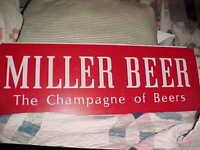 LG Miller High Life Champagne of Bottle Beer 1977 PLASTIC Sign Panel Milwaukee