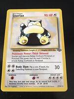 Pokemon Card Unlimited Edition Rare Non Holo Jungle Set 1999 Snorlax 27/64 NM