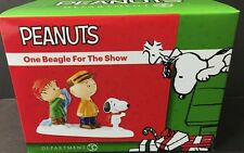 Dept 56 Peanuts One Beagle For The Show 4047193 Snoopy Linus Charlie Brown NEW!