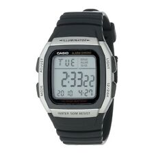 Casio LCD Digital Chronograph Watch, Alarm, Stainless Steel - 5 ATM - W-96H-1AVE