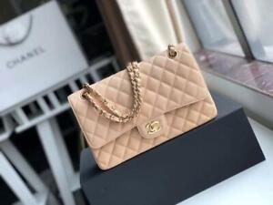Beige CHANEL Classic Medium Double Flap Bag