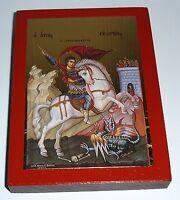Ikone Hl.Georg auf Pferd Ikonen Icon George Icoon Ikona икона Св Георгия icono
