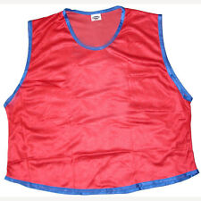 12 RED ADULT SOCCER BASKETBALL MESH SCRIMMAGE VESTS