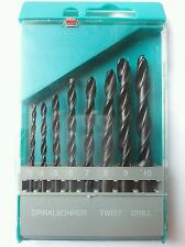 8pc Drill Bit Set Metal With Plastic Case 3 10 mm DIY Free p&p