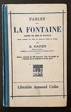 FABLES DE LA FONTAINE classées par ordre de difficulté par A. GAZIER. 1959