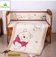 Disney Baby Boys Girls 6 Pieces Cotton Winnie The Pooh Nursery Bedding Cot Sets