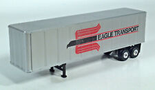 "Eagle Transport Semi Trailer 8"" Scale Model Box Container Truck Custom Details"