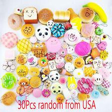 USA 30Pcs Jumbo Medium Mini Squishy Soft Lot Toast/Panda/Bread/Cake Phone Straps