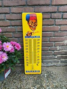 Thermometer Emailleschild Kaffee Kakao Schokolade Frankreich Kolonien Auto