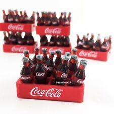 Lot 10 crates 120 coke bottles removable soft drink miniature dollhouse toy prop