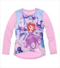 T-shirt violet à manches longues pour fille de 2 à 16 ans