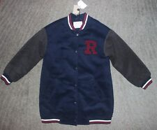 Zara Girls Navy & Gray Jacket - Size 7 (cm122) - NWT