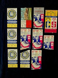 Lot of 11 1951 /1957 / 58 / 1972 Cal vs Stanford Big Game Football Ticket Stubs