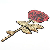 Flowers Sequins Clothes Embroidered Iron on Patches for Clothing Appliques SYJY